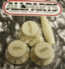 Knob Set for Fender Strat  Vintage Cream PK-0178-048